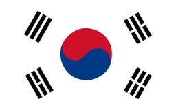 флаг Корея южная Стоковые Фото