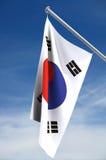 флаг Корея южная Стоковые Изображения