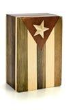 флаг коробки кубинский деревянный Стоковая Фотография