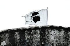 флаг Корсики стоковая фотография