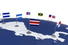 Флаг Коста-Рика Стоковые Фото