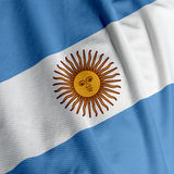 флаг крупного плана Аргентины Стоковая Фотография