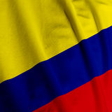флаг крупного плана чолумбийский Стоковое фото RF