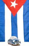 флаг кубинца автомобиля Стоковое Изображение RF