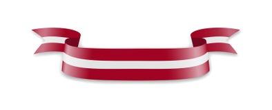 Флаг Латвии в форме ленты волны Стоковая Фотография