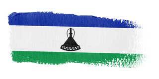 флаг Лесото brushstroke Стоковое фото RF