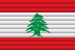 флаг Ливан также вектор иллюстрации притяжки corel иллюстрация штока