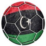 Флаг Ливии футбольного мяча национальный Ливийский шарик футбола Стоковые Изображения