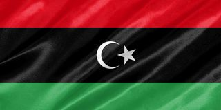Флаг Ливии иллюстрация штока