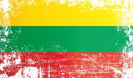 Флаг Литвы Сморщенные грязные пятна бесплатная иллюстрация