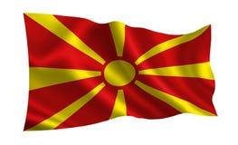 Флаг македонии Серия флагов ` мира ` Страна - македония Стоковое фото RF