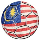 Флаг Малайзии футбольного мяча национальный Шарик футбола Малайзии Стоковое Фото