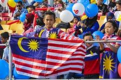 Флаг Малайзии, Jalur Gemilang стоковые фотографии rf