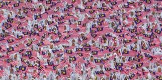 Флаг Малайзии, Jalur Gemilang стоковая фотография rf