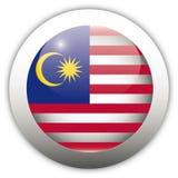 флаг Малайзия кнопки aqua Стоковые Изображения RF