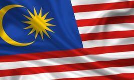 флаг Малайзия Стоковое Изображение RF
