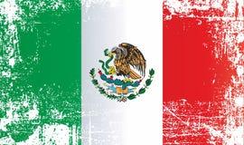 Флаг Мексики, Мексиканских Соединенных Штатов Сморщенные грязные пятна иллюстрация вектора