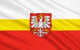 Флаг меньшей Польши Voivodeship в южной Польше стоковые фото