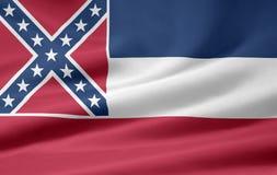 флаг Миссиссипи Стоковое Изображение