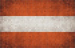 Флаг мозаики Австрии Стоковое Изображение