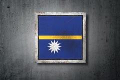 Флаг Науру в бетонной стене бесплатная иллюстрация