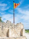 Флаг на стене в Франции Стоковое Фото