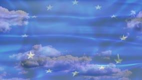 Флаг неба Европы видеоматериал