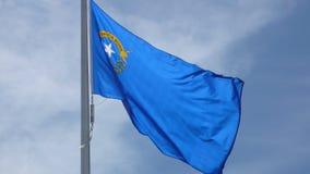 Флаг Невады принесенный сражением Стоковые Фото