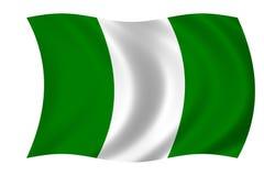 флаг Нигерия Стоковое Изображение