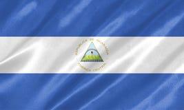 Флаг Никарагуа иллюстрация вектора