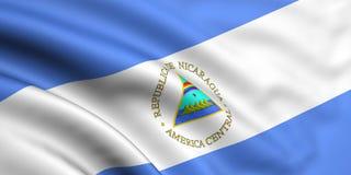 флаг Никарагуа Стоковое Фото