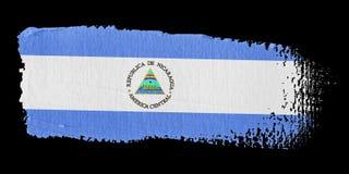 флаг Никарагуа brushstroke Стоковое фото RF