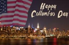 Флаг Нью-Йорка и Соединенных Штатов Стоковое Фото