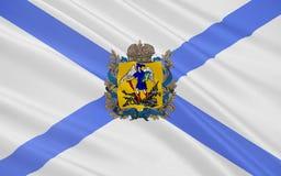 Флаг области Архангельска, Российской Федерации иллюстрация вектора