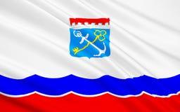 Флаг области Ленинграда, Российской Федерации Иллюстрация вектора