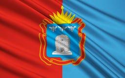 Флаг области Тамбова, Российской Федерации иллюстрация вектора