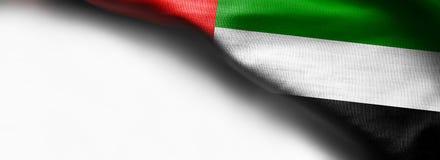 Флаг Объединенных эмиратов на белой предпосылке Стоковое Изображение