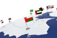 Флаг Омана Стоковые Изображения RF