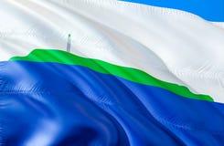 Флаг острова Навасса E Национальный символ США государства острова Навасса, перевода 3D национально стоковая фотография