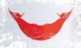 Флаг острова пасхи, Чили Сморщенные грязные пятна иллюстрация вектора