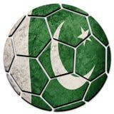 Флаг Пакистана футбольного мяча национальный Шарик футбола Пакистана Стоковое Фото
