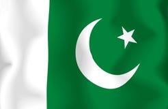флаг Пакистан Стоковое фото RF