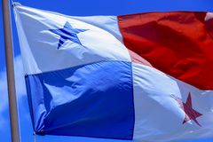 Флаг Панамы стоковая фотография