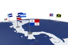 Флаг Панамы Стоковое фото RF