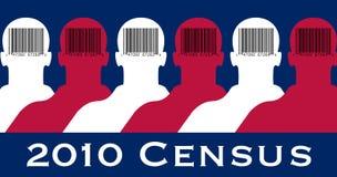 флаг переписи 2010 американцов Стоковое Изображение