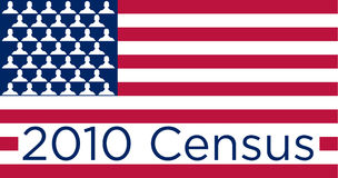 флаг переписи 2010 американцов Стоковое фото RF