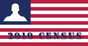 флаг переписи 2010 американцов Стоковые Изображения RF