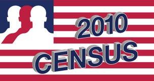 флаг переписи 2010 американцов Стоковые Фото