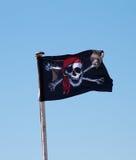 Флаг пирата - весёлое Роджер Стоковые Фото