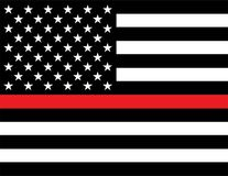 Флаг поддержки пожарного иллюстрация штока